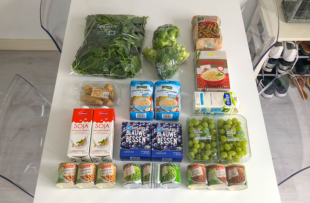 Vegan weekboodschappen